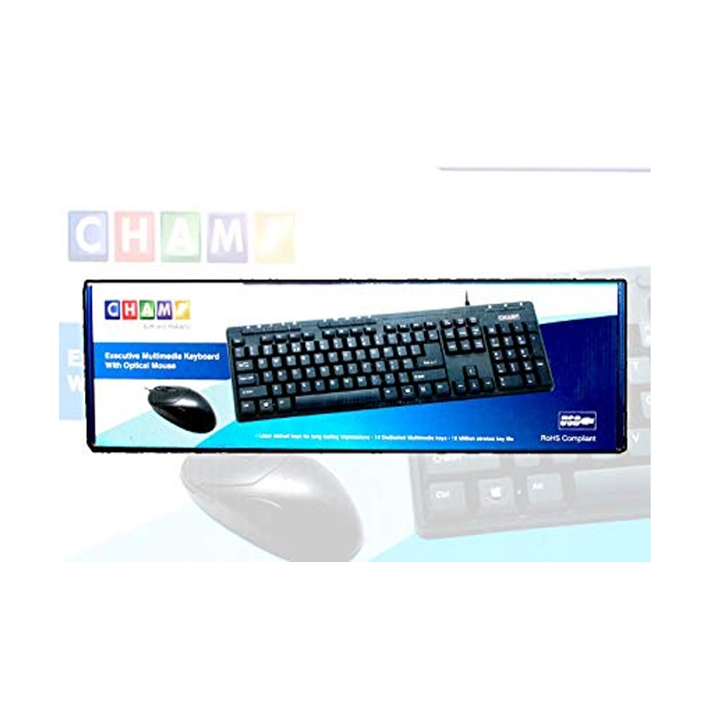TVS CHAMP KEYBOARD AND MOUSE SET WIRED